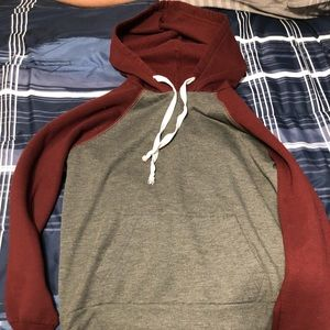 Red and grey Rue21 hoodie